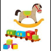 Ξύλινα παιχνίδια από 1 έως 3 ετών
