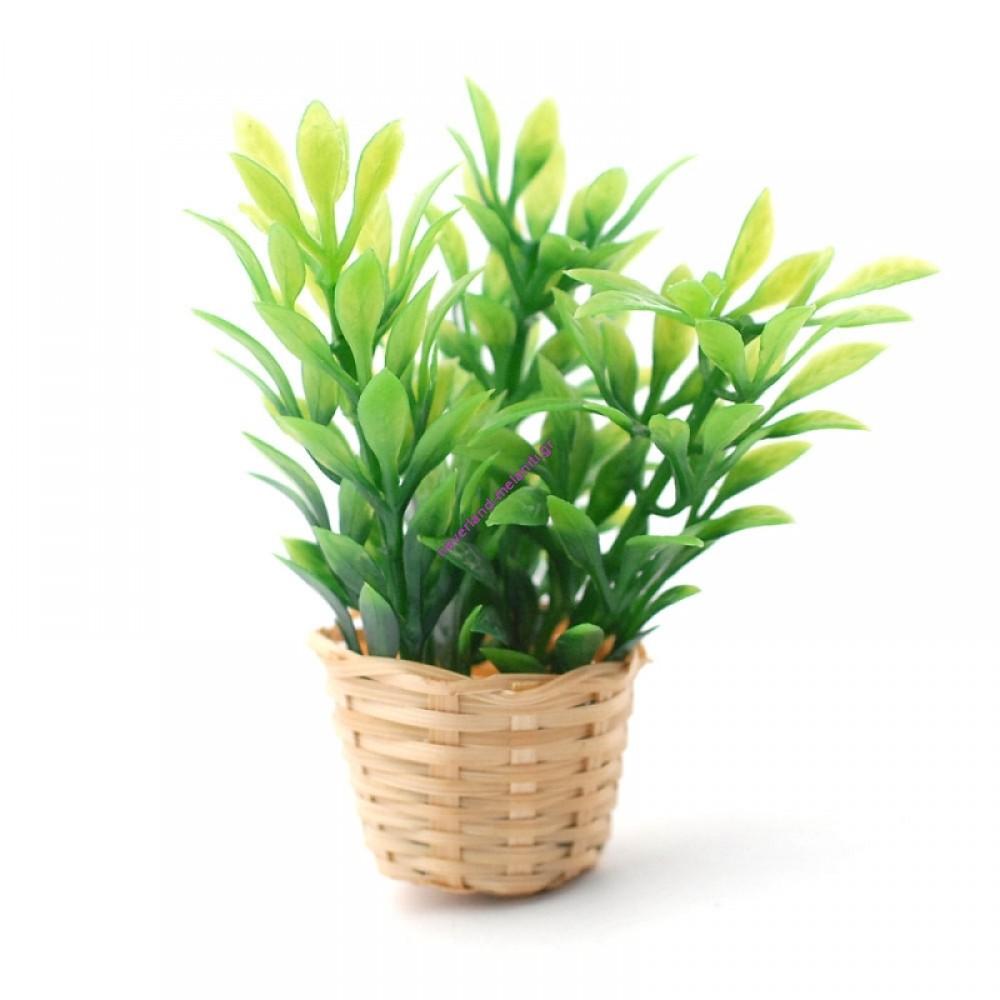 Φυτό σε καλάθι μινιατούρα 5927 - Bushy Plant in Basket