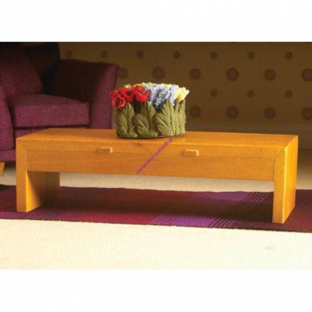 Τραπεζάκι μινιατούρα 1:12 - Modern Low Table/Shelf