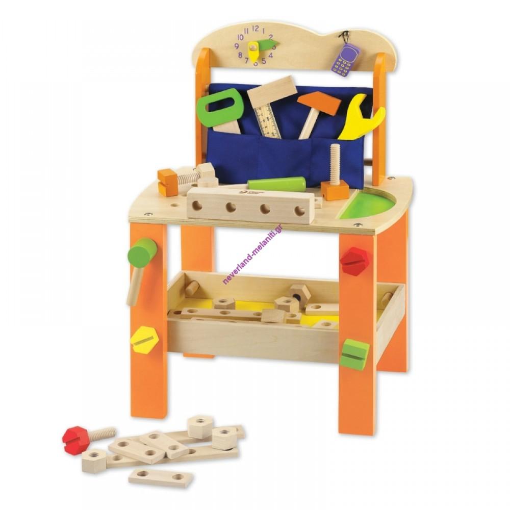 Classic Ξύλινος Πάγκος με εργαλεία για παιδιά
