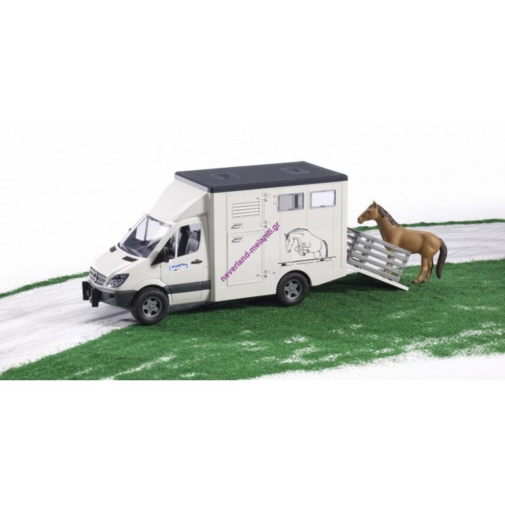 BRUDER Mercedes Sprinter μεταφοράς αλόγων