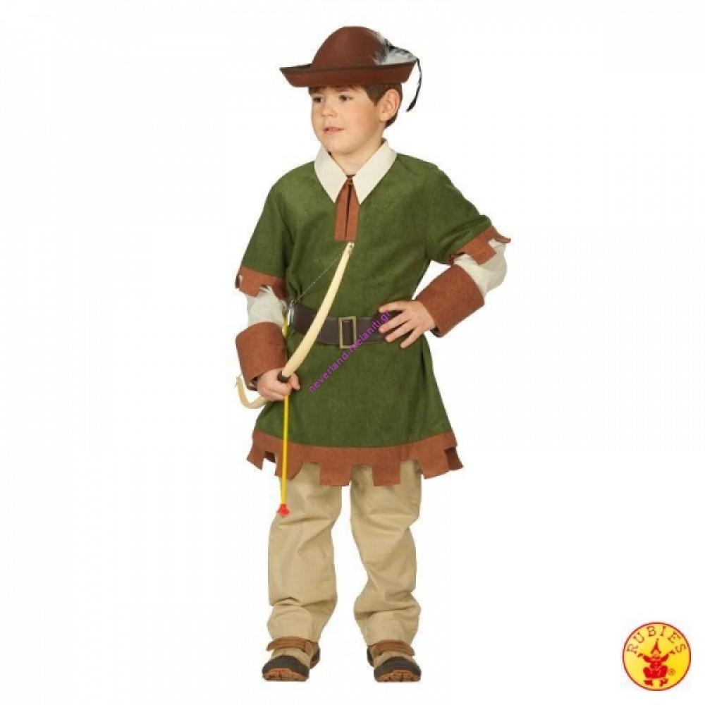 Στολή για αγόρια Ρομπέν των δασών 4-9 ετών