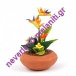 Φυτό σε γλάστρα μινιατούρα D87033 -  Plant  in Pot