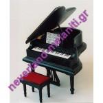 Πιάνο μινιατούρα DF277 - Grand Piano/stool BLACK