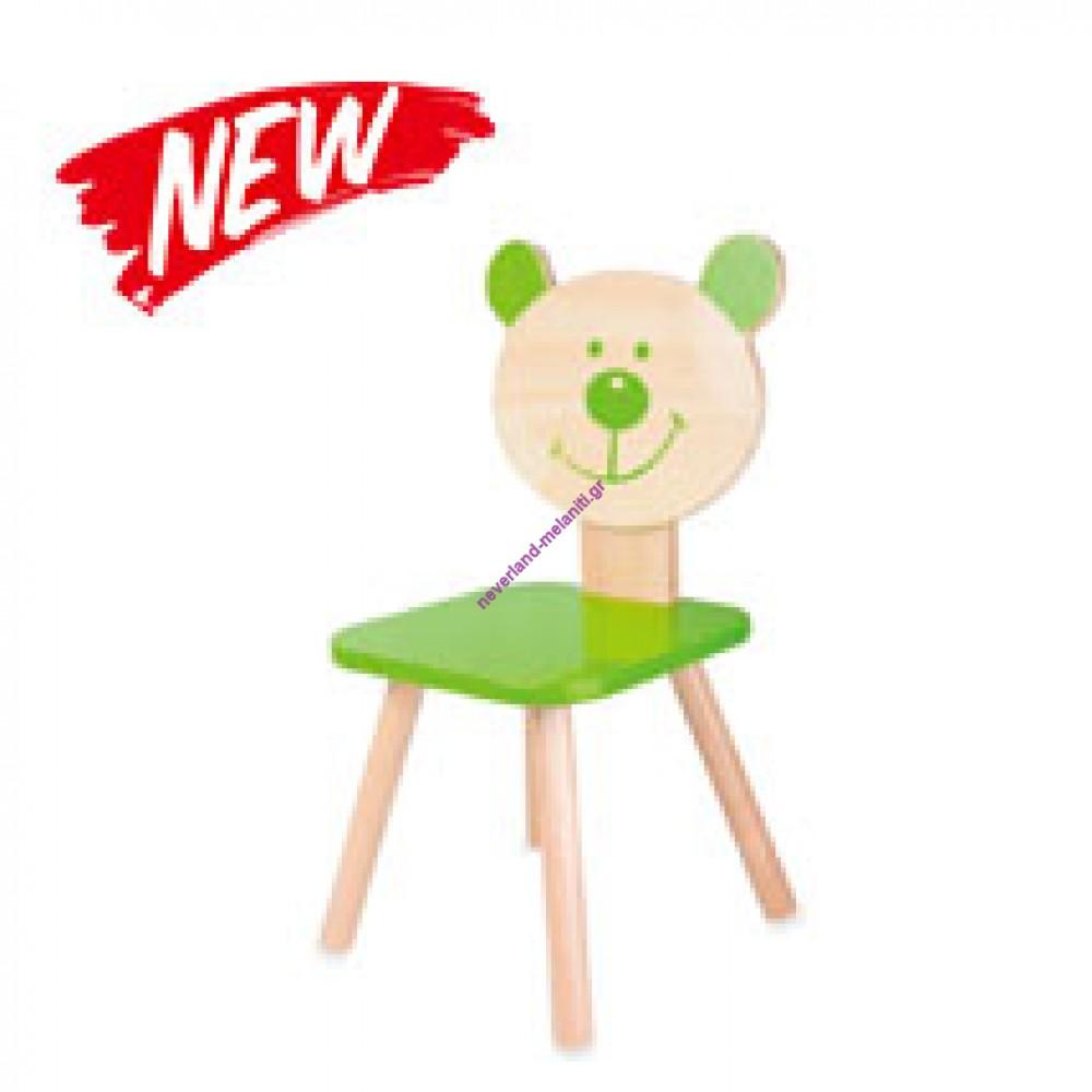 Classic Παιδική καρέκλα ξύλινη πράσινη