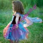 Στολή για κορίτσια 'Μπλε Νεράιδα των Λουλουδιών' 5-6 ετών