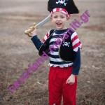 Στολή για αγόρια 'Πειρατής' 3-6 ετών