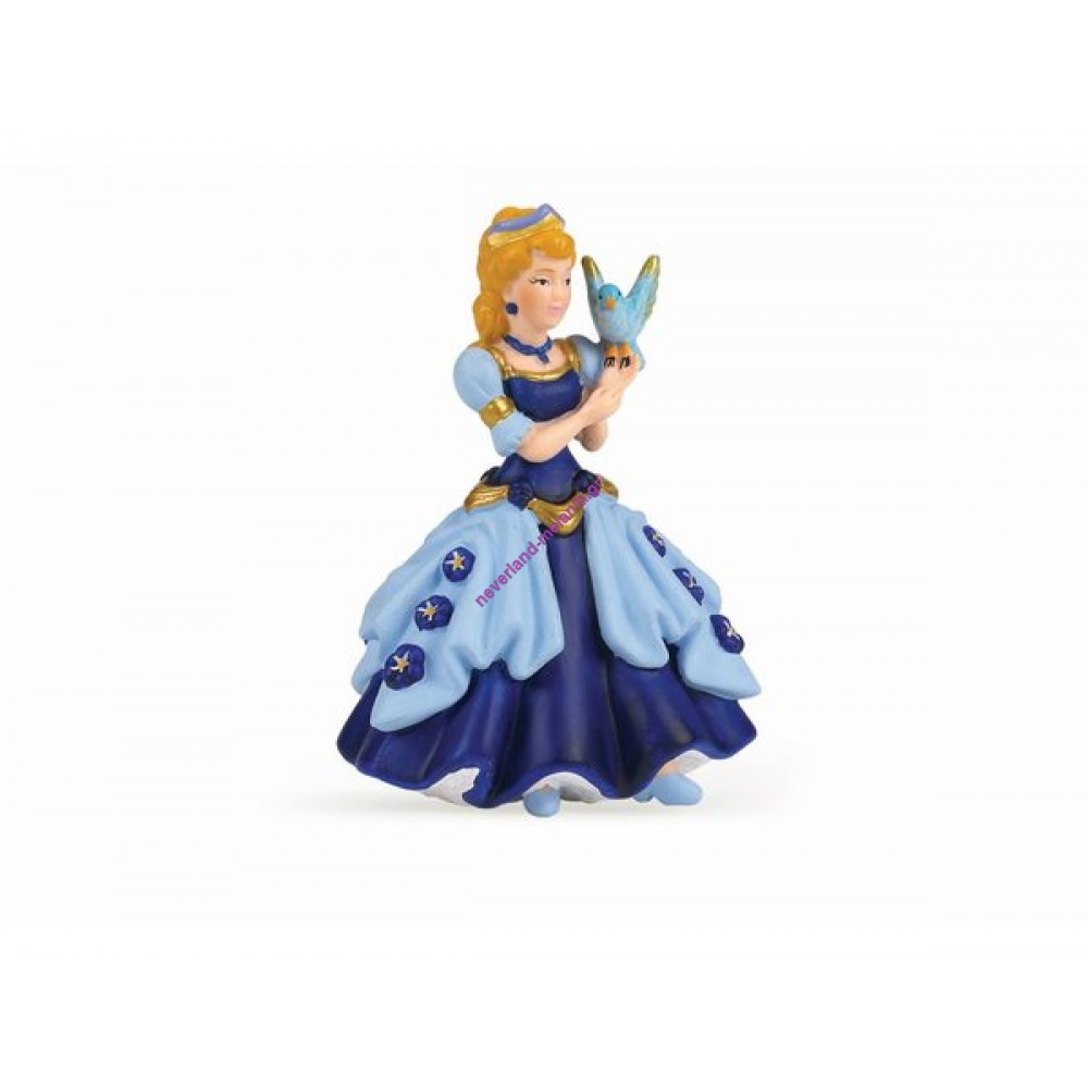 Πριγκίπισσα μπλε με πουλάκι πλαστική φιγούρα 10 εκ.
