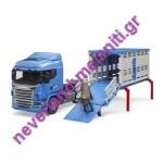 BRUDER  Φορτηγό Scania μεταφοράς ζώων