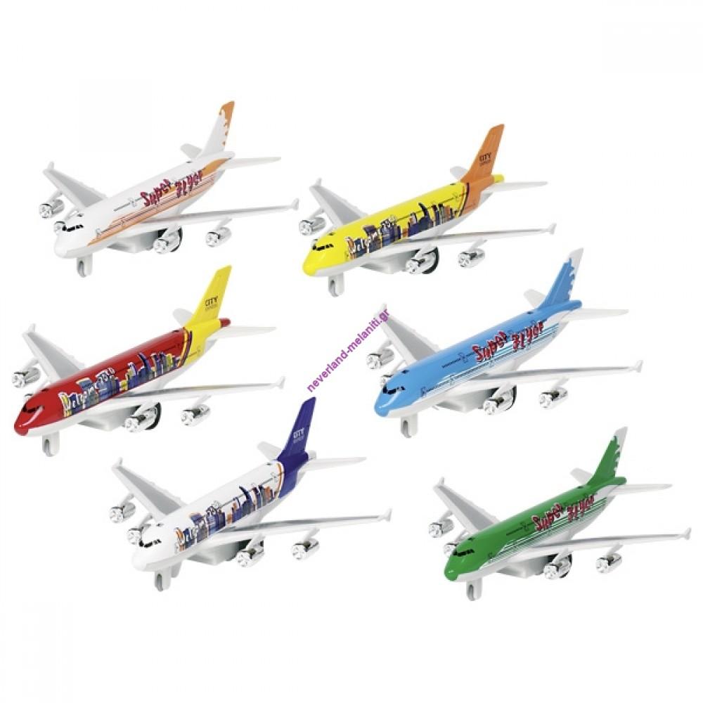 Αεροπλάνο μεταλλικό με ήχο και φως