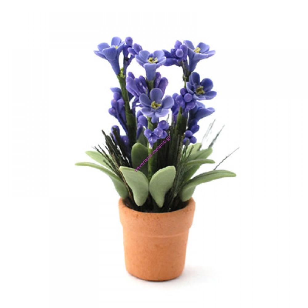 Φυτό σε γλάστρα μινιατούρα 6 εκ. 6498-  Lilac Potted Plant with