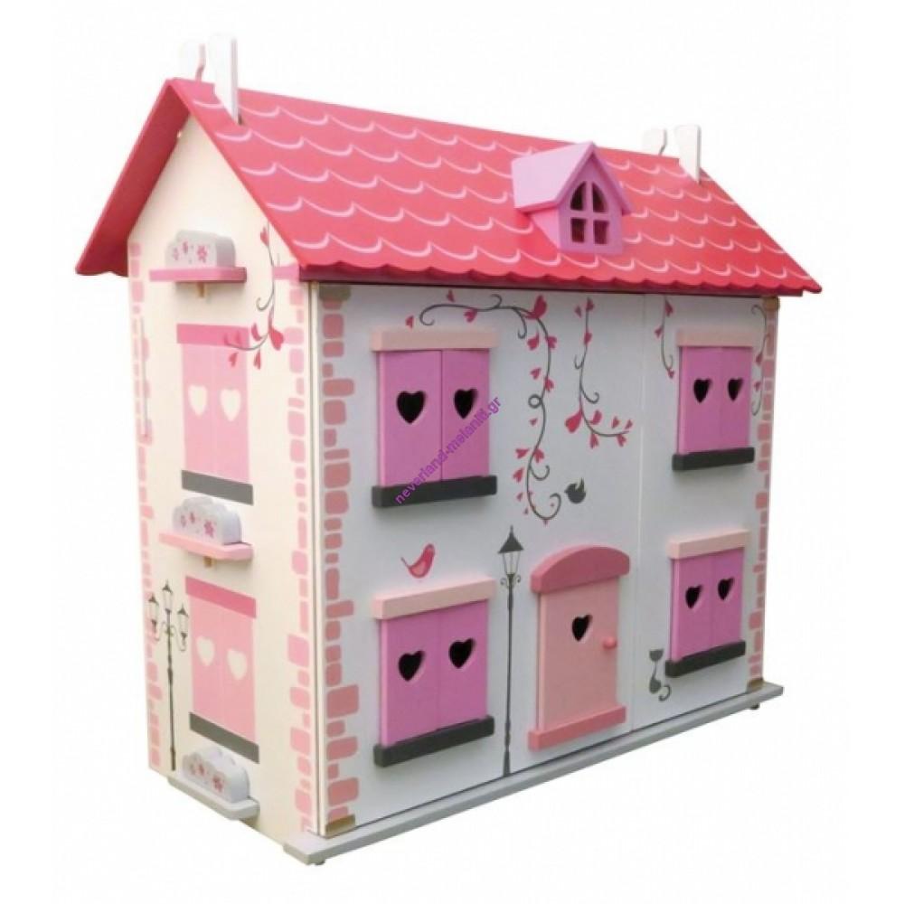 Κουκλόσπιτο ξύλινο Diamond House με έπιπλα