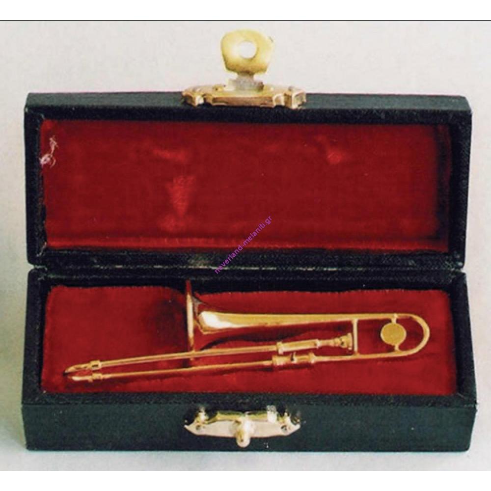 Τρομπόνι μινιατούρα σε θήκη 1:12  9.157 - Trombone