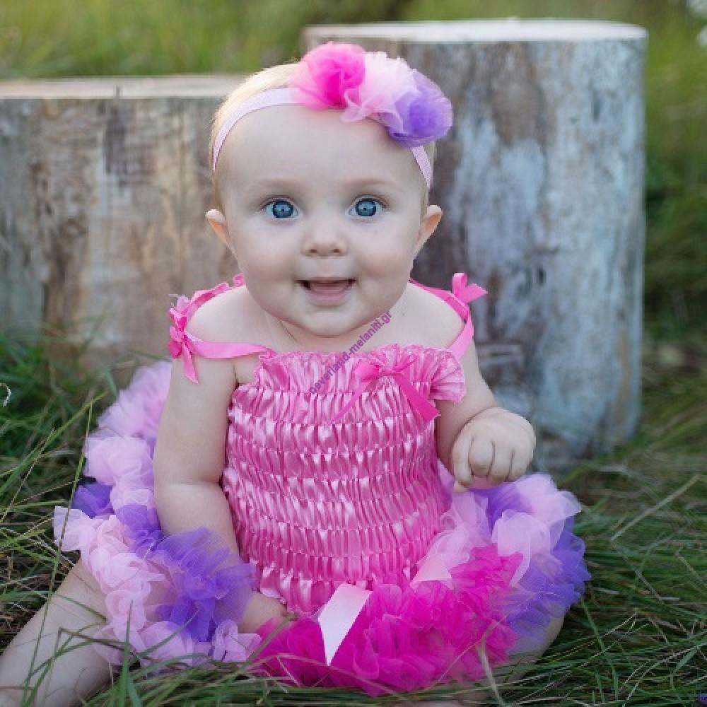 Στολή για μωρά Φούστα Τουτού με κορδέλα 3-12 μηνών