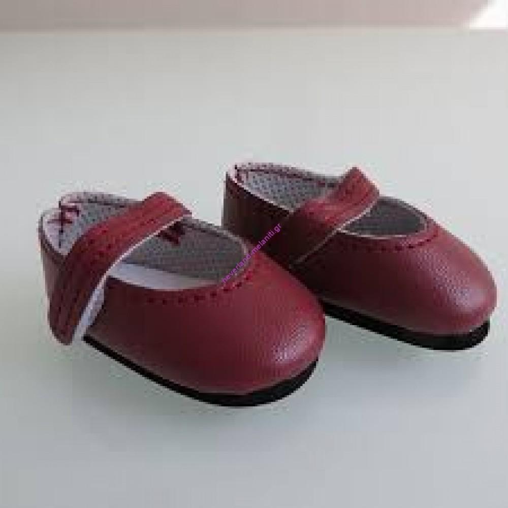 Paola Reina Παπούτσια κόκκινα για κούκλα 32 εκ.