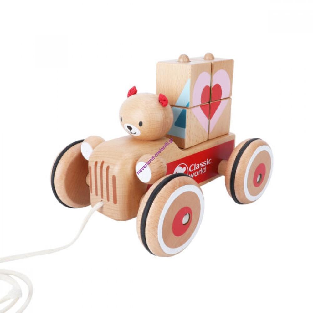 Ξύλινο συρόμενο αυτοκίνητο Coco