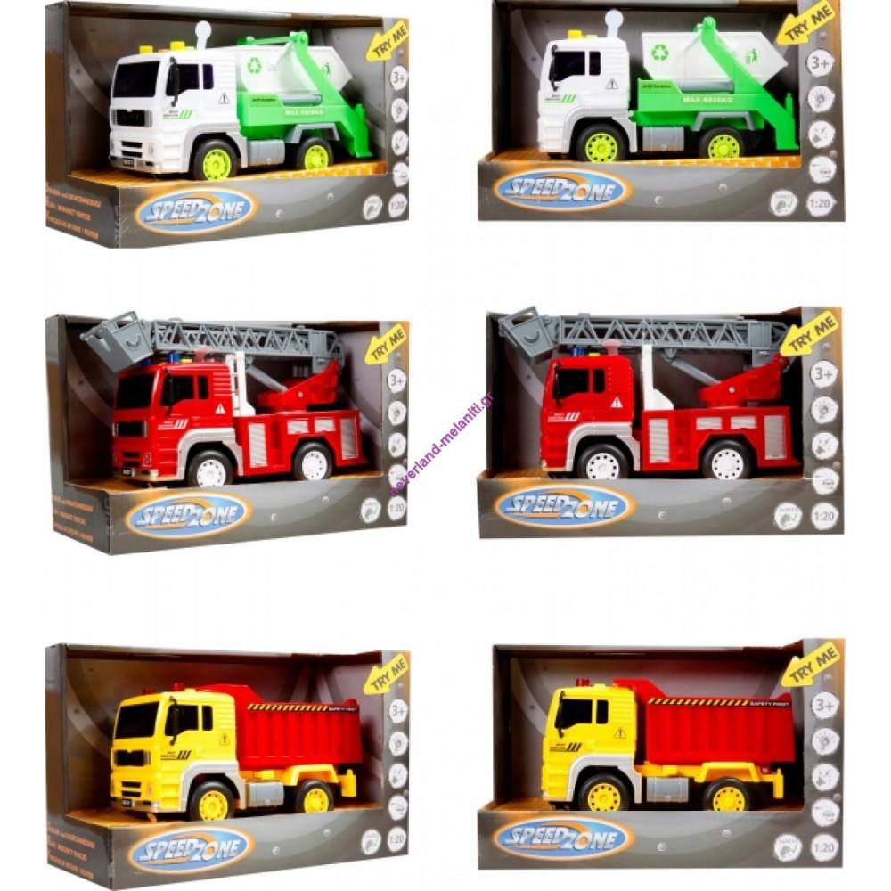 Οχήματα δρόμου με κίνηση, ήχο και φως